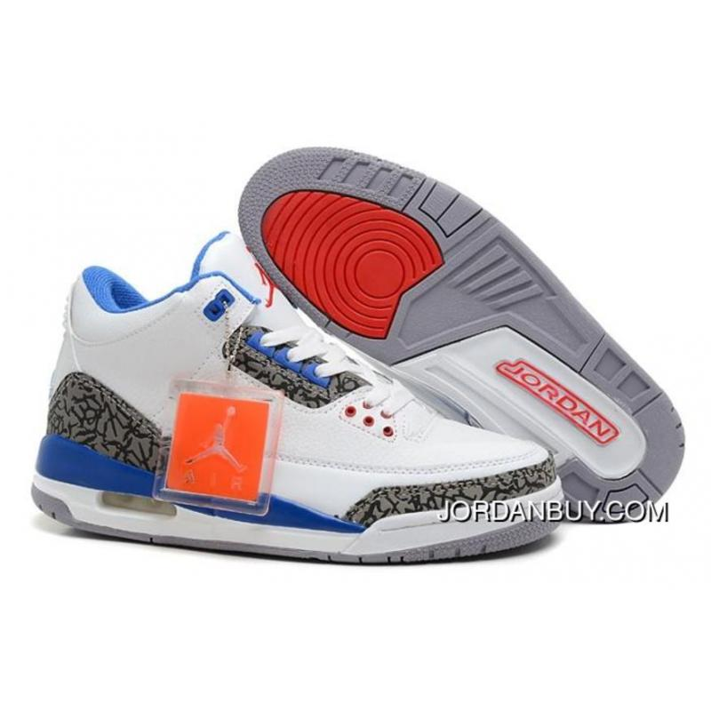 New Style Nike Air Jordan 3 III Cement Mens Shoes White Grey Blue Shoes Now  ...