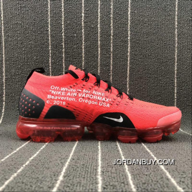 lower price with dc60c 19c14 NikeLab Air Vapormax Flyknit OFF WHITE Red Black White Outlet