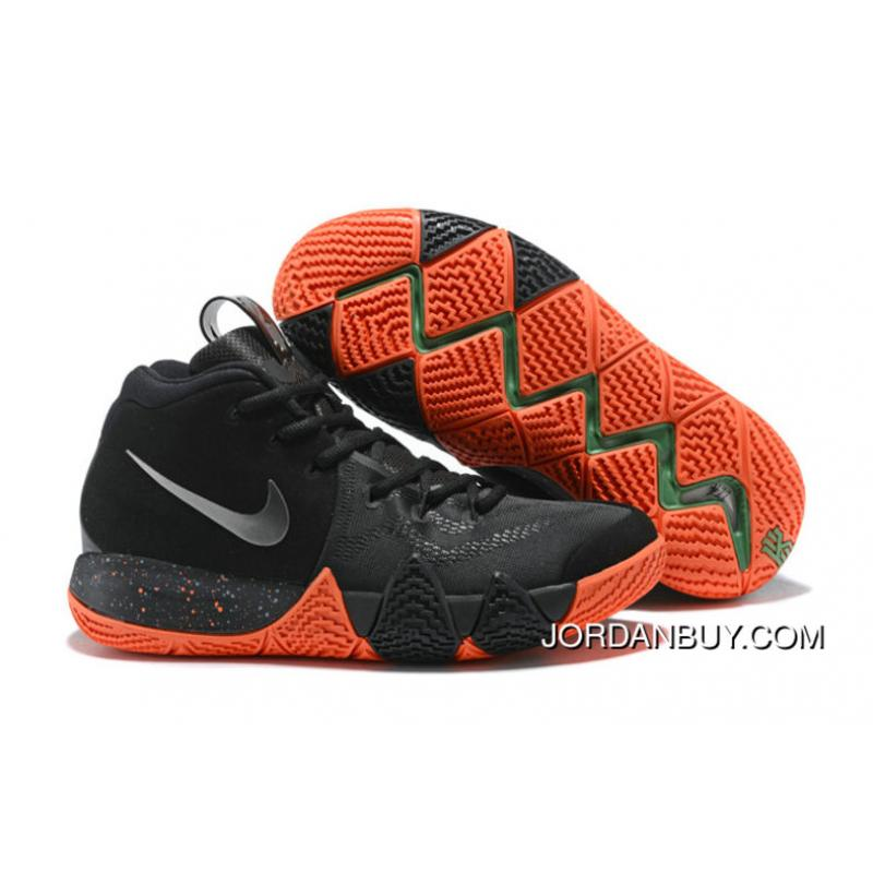 sports shoes 3d6bc 66d33 2018 Nike Kyrie Shoes X Nike Kyrie 4 Halloween Black Metallic Silver Super  Deals ...