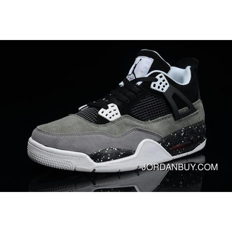 online store 37737 5ab70 Stylish 2016 Air Jordan 4 IV Mens Shoes Fur Oreo White Clearance
