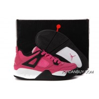 Real Nike Air Jordan 4 Kids Pink Black Shoes Now
