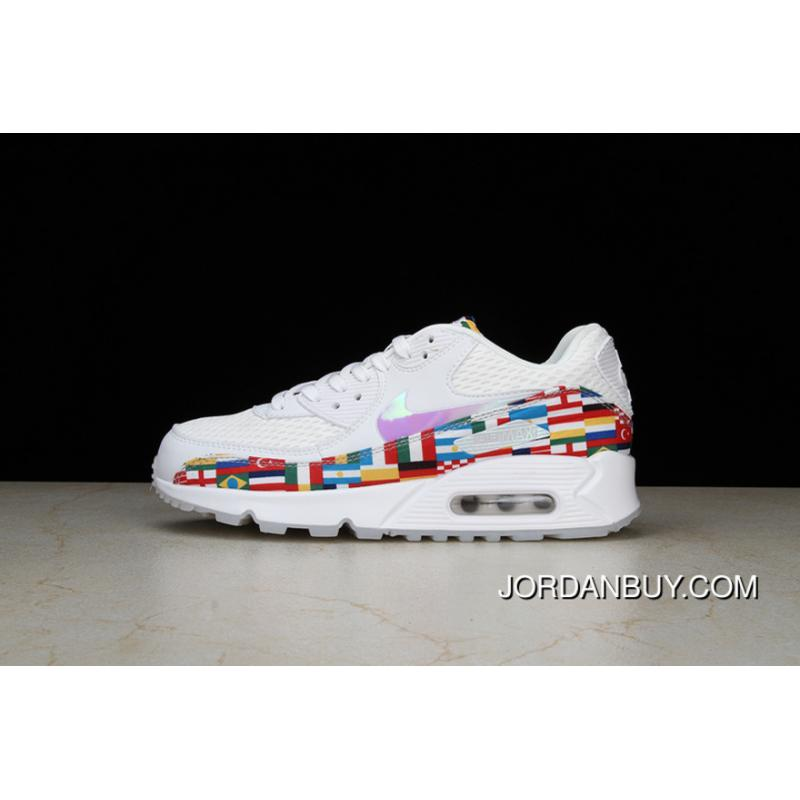 61032e67d0afc P19 Nike Air Max 90 NIC QS Retro Zoom Jogging ShoesInternational Limited  International Banner Flag World ...