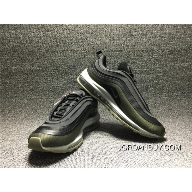 new product 84aab f6abe Nike AIR MAX 97 ULTRA 17 HAL AH9945 001 Black Olive Green Zoom Sport Shoes  Men Shoes Discount