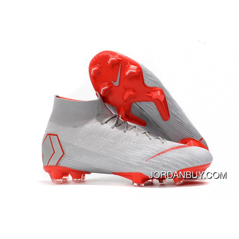 296a9b50431a0 Arrived The Nike Mercurial 2.0 White Grey Orange Knitting Flyknit 360  Technology Waterproof FG Nail Soccer ...