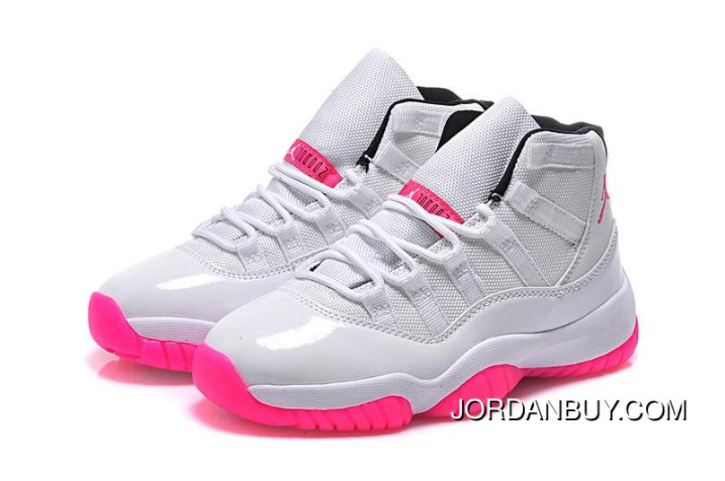 2015 Nike Air Jordan 11 XI Retro Silver Pink Basketball Shoes Womens On Sale