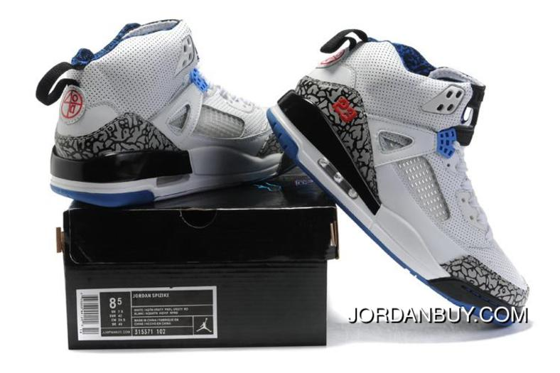 Stylish New 2012 Air Jordan Spizike 3.5 Retro Mens Shoes Best White Cement  Black Online