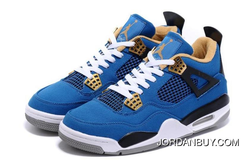 Fashion 2016 Nike Eminem X Carhartt X Air Jordan 4 IV Mens Shoes Blue  Yellow White