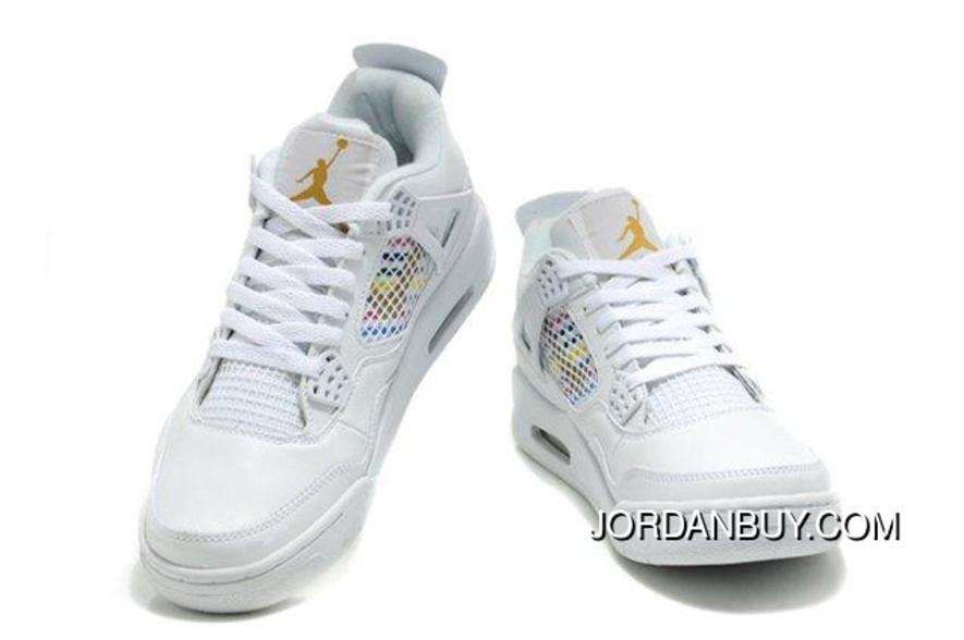 half off 25198 a78cd The Nike Air Jordan 4 IV Retro Mens Shoes White Gold In Reasonable Price