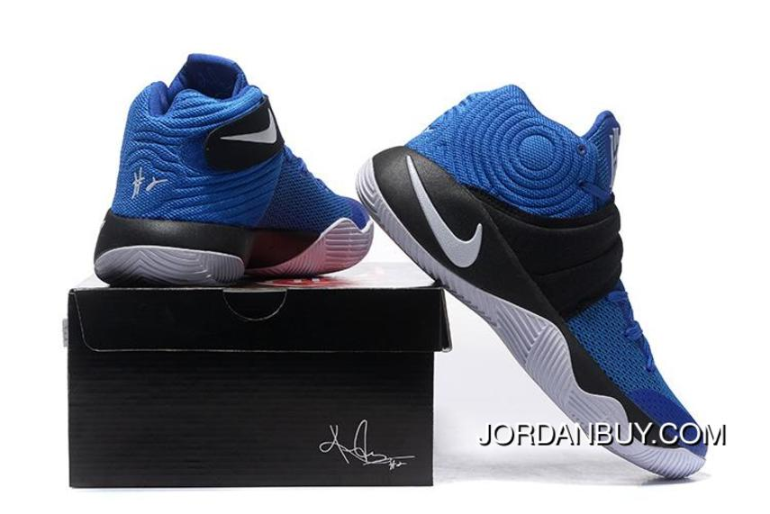 753d651e63b8 Outlet 2016 Nike Kyrie 2 Navy Blue White Basketball Shoes On Sale ...