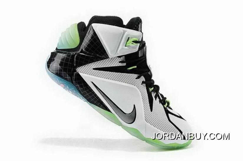 sale retailer c6e65 8ea66 Original Nike Lebron 12 2015 White Black Green Mens Shoes Shoes Online